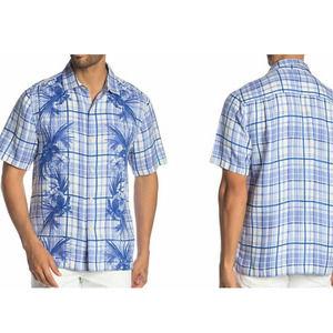 Tommy Bahama Lattice Bay Silk Linen Camp Shirt XXL